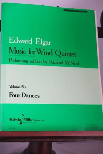 Elgar E - Four Dances - Music for Wind Quintet Volume 6